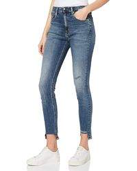 Calvin Klein Ckj 010 High Rise Skinny Ankle Straight Jeans - Blue