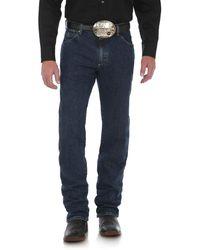 Wrangler George Strait Cowboy Cut Regular Fit Jean - Blue