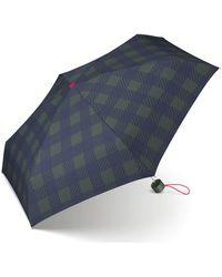Esprit Petito Gingham Checks Pocket Umbrella - Green