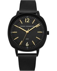 French Connection S Analogue Classic Quartz Watch With Stainless Steel Strap Fc1327bm - Black