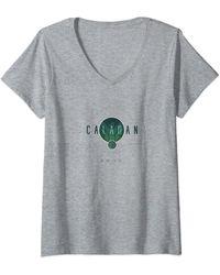 Dune Caladan Planet Logo T-Shirt avec Col en V - Gris