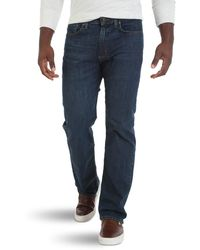Wrangler Big & Tall Comfort Flex Waist Relaxed Fit Jean - Blue
