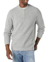 Amazon Essentials Long-sleeve Henley Jumper - Grey