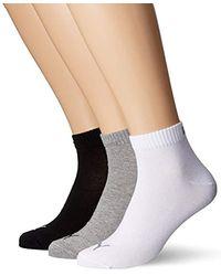 PUMA Quarter 3P - Calcetines de deporte para hombre (3 pares) - Negro