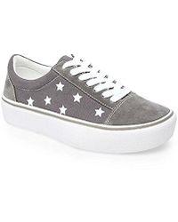 Emile Suede Star Platform Sneakers fvt4zqtO