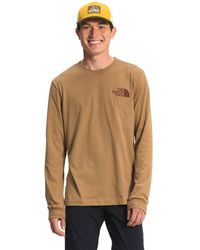 The North Face L/s Tnf Sleeve Hit Tee - Brown