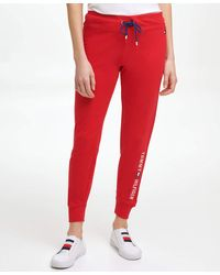 Tommy Hilfiger Tommy Hlfiger Pant Jogger W/embroidery & Cuff - Red