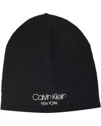 Calvin Klein Beanie No Fold Cappello - Blu