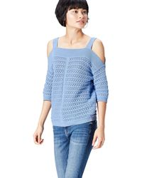 FIND Top In Crochet Knit With Open Shoulder - Blue