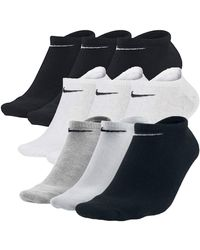 Nike 9 Paar Sneakersocken Füßlinge Socken Socks SX2554 - Mehrfarbig