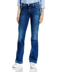 ea95e366ef Pepe Jeans Melissa Flare With Front Pocket in White - Lyst
