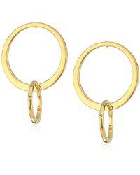 Laundry by Shelli Segal - Front Face Orbit Drop Earrings, Gold - Lyst
