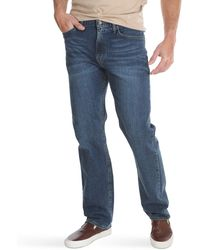 Wrangler Classic Five-Pocket Regular Fit Straight Leg Jeans - Blau