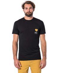 Rip Curl Ramen VPC Tee Uomo,T-Shirt,T-Shirt ica Corta,iche Corte,Scollo Rotondo,Logo,Black,M - Nero