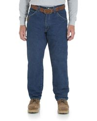 Wrangler Riggs Workwear Fleece Lined Relaxed Fit Jean - Natural