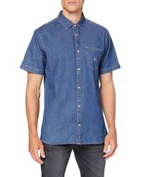 Tommy Hilfiger TJM Short Sleeve Denim Shirt Camisa - Azul