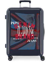 Pepe Jeans Hartschalenkabinenkoffer 55 cm Chad - Blau