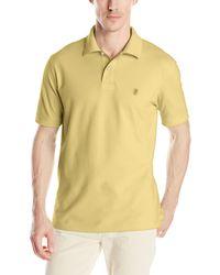 Izod Heritage Solid Pique Polo - Yellow