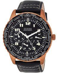 Guess Reloj Analógico para Hombre de Cuarzo con Correa en Cuero W1170G2 - Negro