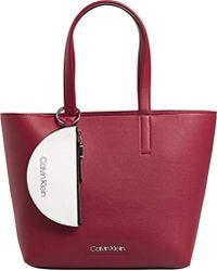 Calvin Klein Ck Must Medium Shopper, Cabas - Rouge