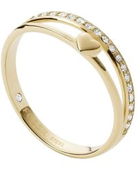 Fossil , Womens Stainless Steel No Gemstones Rings, Gold, - Jf03750710 - Metallic