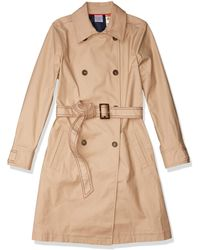 Tommy Hilfiger Adaptive Trench Coat With Magnetic Closure - Natural