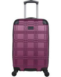 "Ben Sherman Nottingham 20"" Carry-on Lightweight Hardside 4-wheel Spinner Cabin Size Travel Suitcase - Purple"