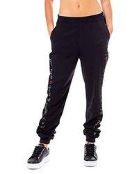 Desigual Luxury Fashion Donna 19WWPW01BLACK Nero Joggers | Autunno Inverno 19