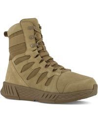"""Reebok Work Floatride Energy Safety Toe 8"""" Tactical Boot with Side Zipper - Verde"""