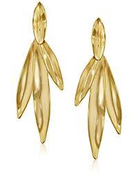 Trina Turk - Leaf Linear Drop Earrings - Lyst