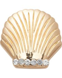 Crocs™ 's Gold Seashell Shoe Charms - Metallic