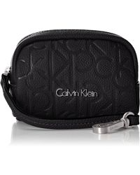 Calvin Klein 's Mish4 Coin Pouch Key Cases Black