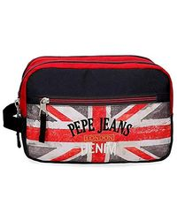 Pepe Jeans Calvin Adaptable Vanity Case Double Compartment - Red