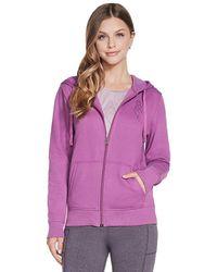 Skechers Womens Diamond Crown Hoodie Purple - Uk L