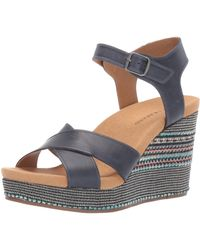 Lucky Brand Lucky Yarosan Wedge Sandal, Indigo 6.5 M Us - Blue