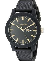 Lacoste Analogique Quartz Montre avec Bracelet en Silicone 2010818 - Noir