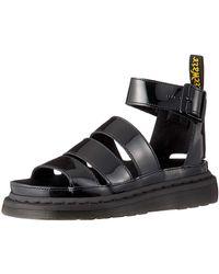 Dr. Martens Clarissa II Patent Leather Buckle Sandal Black Size 6 - Schwarz