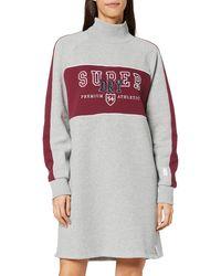 Superdry Funnel Sporty Sweat Dress - Grey