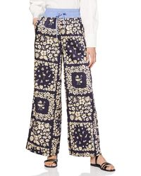 Scotch & Soda Maison Wide leg pants with contrast waistband Shorts - Mehrfarbig