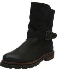 Hudson Jeans London Tatham Calf Biker Boots - Black