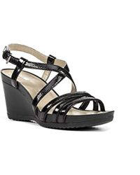 Geox - D New Rorie B, 's Wedge Heels Sandals - Lyst