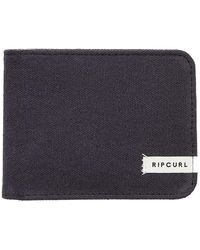Rip Curl Saltwater Culture Eco Rfid Protection Bifold Wallet - Black
