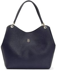 Tommy Hilfiger Th Essence Hobo Corp Bags - Blue