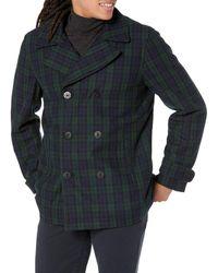 Amazon Essentials Wool Blend Heavyweight Peacoat Pea Coat - Multicolor