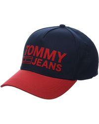 Tommy Hilfiger Tju Logo Cap Casquette De Baseball - Bleu