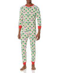 Amazon Essentials Disney Star Wars Marvel Family-Set di Pigiama in Cotone Pajama-Sets - Verde