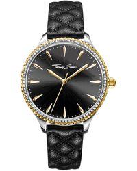 Thomas Sabo S Analogue Quartz Watch With Leather Strap Wa0323-221-203-38 Mm - Metallic