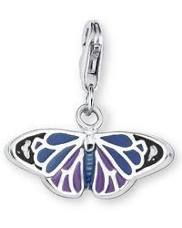 S.oliver Charm 925 Sterling Silber Schmetterling Länge ca. 11 mm 393379 - Blau