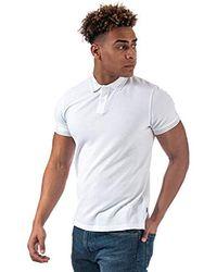 Wrangler S Short Sleeve Pique Polo Shirts In White, Navy,grey