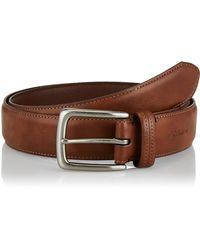 Columbia Casual Leather Belt -trinity Style For Jeans Khakis Dress Leather Strap Silver Prong Buckle Belt,tan,36 - Brown